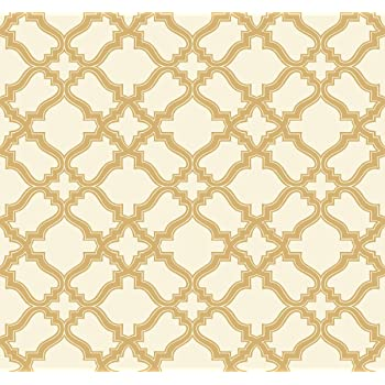 York Wallcoverings Modern Shapes Cathedral Removable Wallpaper Cream Gold Amazon Com
