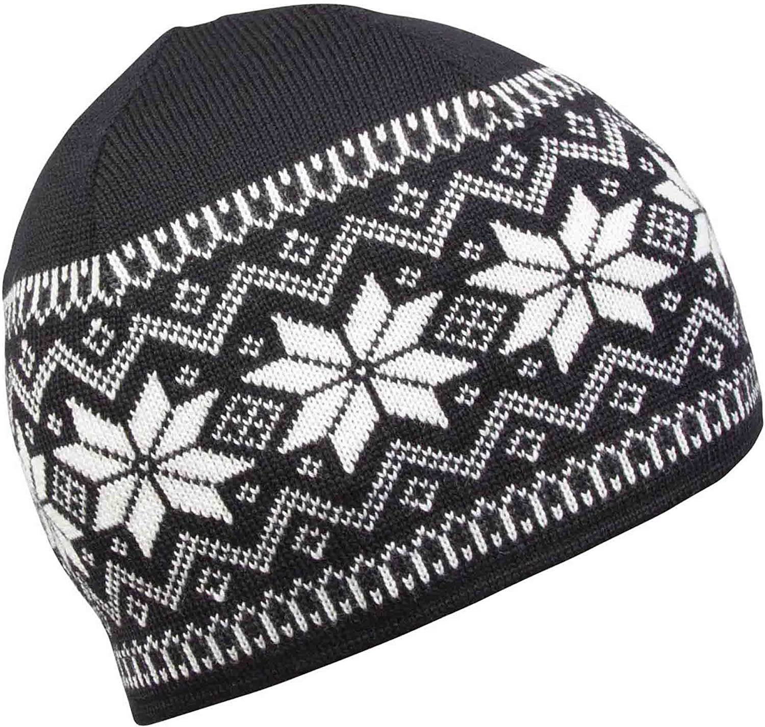 DALE OF NORWAY Women's Garmisch Hat FBlack OffWhite Dark Charcoal One Size