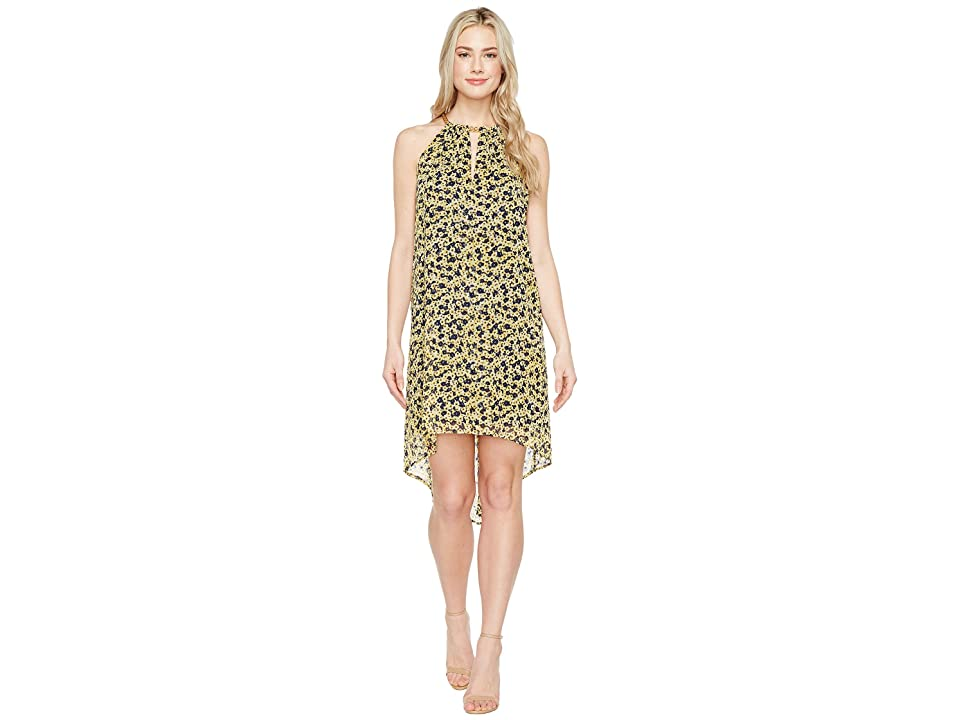 MICHAEL Michael Kors Lydia Chain Neck Dress (Taxi Yellow) Women