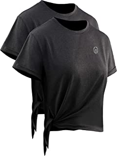 Neleus Women's Dry Fit Workout Shirts Running Athletic Tops