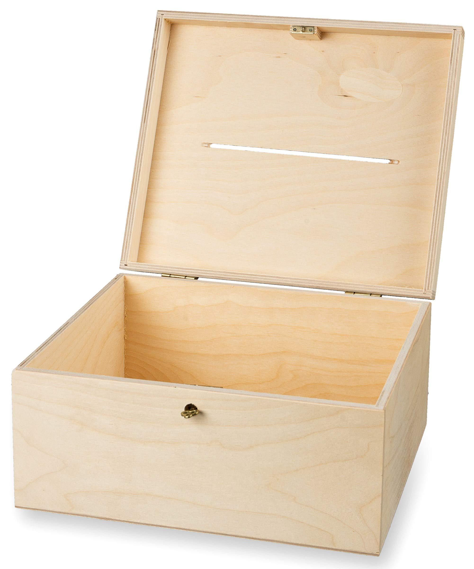 MidiM - Caja de Madera con Tapa y Orificio para Cartas, para Hacer ...