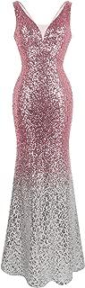 Women's V Neck Glitter Sequin Gatsby 20s Flapper Evening Dress