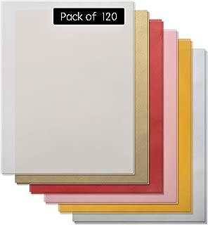 Vellum Paper -120 Pack Bulk Vellum Papers (100 Sheets Transparent Vellum Paper & 20 Colored Vellum Paper) Translucent Vellum Paper -Printable Vellum Paper -Trace & Sketch Paper- 8.5 x 11 Vellum Sheets