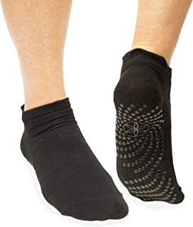 Gaiam Yoga Socks - Non Slip Fitness Sock Grips for Women & Men   Ideal for Home Use & All Types of Yoga, Pilates, Barre, D...