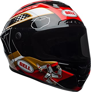 Bell Star MIPS Equipped Street Motorcycle Helmet (Isle of Man 18 Gloss Black/Gold, Medium)
