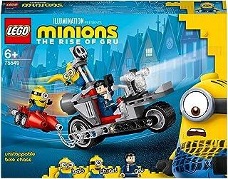لعبة مطاردة الدراجة التي لا يمكن ايقافها مينيونز من ليغو مناسبة لعمر 6 سنوات فما فوق طراز 75549