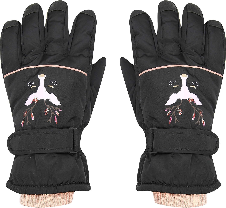 mosstyus Snow Gloves Full Finger Ski Gloves Waterproof Winter Warm Mittens for Men Women Skiing Snowboarding, Non Slip