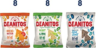 Beanitos Variety Chip Pack of Plant Based Protein Good Source Fiber Gluten Free Non-GMO Vegan Corn Free Tortilla Chip Snack 1 Ounce, 24 Count