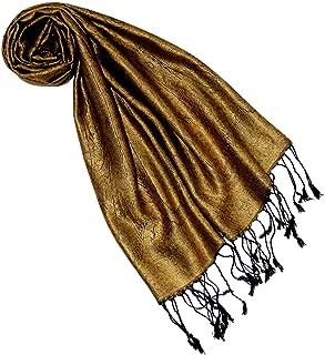 LORENZO CANA Luxus Seidenschal für Frauen Schal 100% Seide gewebt Damenschal elegant Paisley Muster Ton in Ton