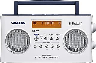 Sangean DPR-26BT Portable DAB+ Digital Radio (FM Tuner, Bluetooth, AUX-in) White
