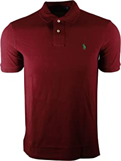 Men's Slim Fit Cotton Pique Mesh Polo Shirt