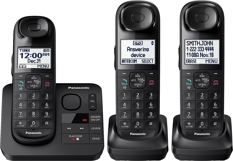 Panasonic KX-TGL433B お気に入り Dect_6.0 3-Handset Telephone Landline 蔵 Blac