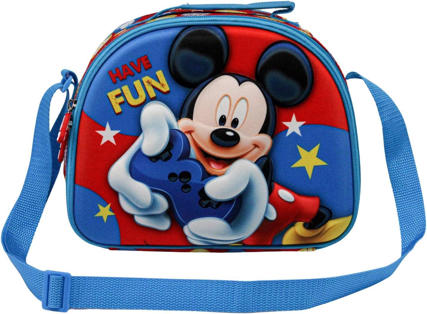 KARACTERMANIA Mickey Mouse Gamer-Bolsa Portameriendas 3D, Multicolor