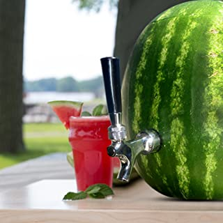 Blazin Watermelon Tap - Brass and Chrome Keg Kit - Pumpkin Fruit Ice Tea Drink Dispenser