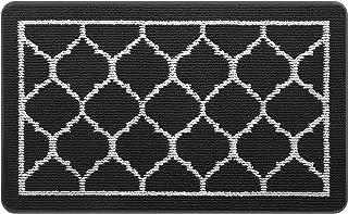 HappyTrends Door Mat Outdoor Indoor Entryway Doormat Welcome Mat, Super Absorbent Non Slip Rubber Floor Mat Low-Profile Ru...