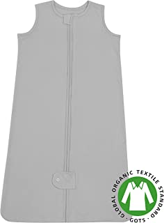 Natemia Baby Sleeping Bag -100% Organic Cotton Wearable Blanket - Sleeping Sack - Fits Infants and Toddlers - 0-6 Months - Grey