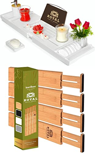 popular Luxury high quality Bathtub Caddy Tray (White) and Drawer online Dividers 22IN online