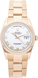Day-Date Mechanical (Automatic) White Dial Mens Watch 118205 (Certified Pre-Owned)