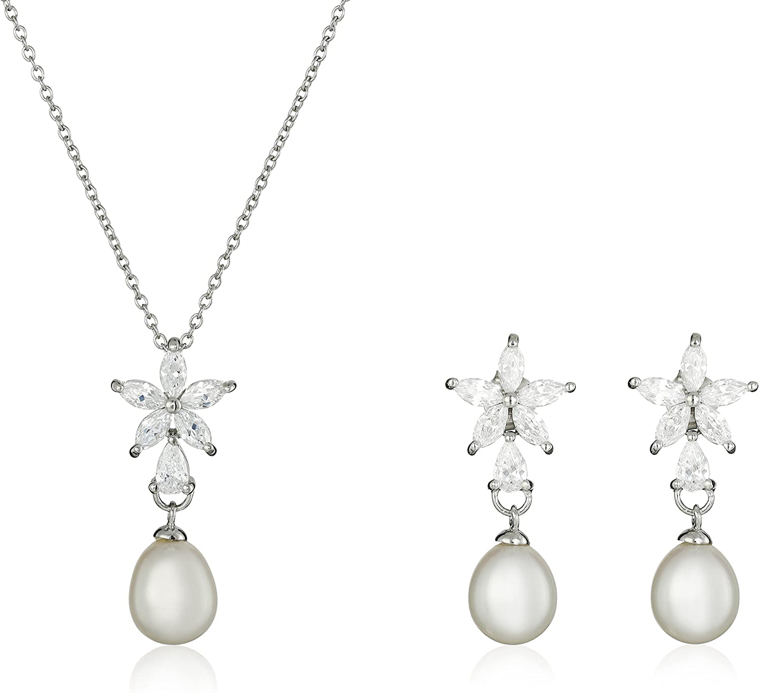 Bella Pearl Fancy Cubic Jewelry Set Zirconia Popular brand in the world Cheap super special price