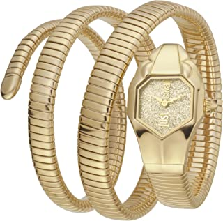Just Cavalli Women's JC1L115M0025 Triple Glam Gold tone Bracelet Watch
