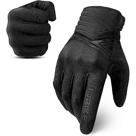 5mm EVA Palm Pad Goatskin Leather Motorbike Gloves Full Finger Orange Large INBIKE Womens Motorcycle Gloves