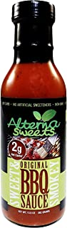 AlternaSweets Sweet & Smokey BBQ Sauce - 13.5 oz - Stevia Sweetened - Low Carb - KETO/Paleo/Atkins/Diabetic Friendly - Non GMO - Gluten Free