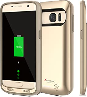 Alpatronix Galaxy S7 Battery Case, 4500mAh Slim Portable Protective Extended Charging Cover Rechargeable External Backup Charger Compatible with Samsung Galaxy S7 (5.1 inch) BX420 - (Gold)