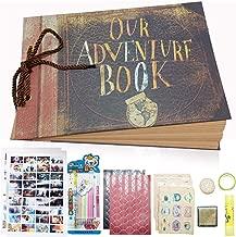 GRT Nuestro libro de aventuras nueva versión de parachoques estéreo de tapa dura a mano álbumes bricolaje para cumpleaños bodas aniversarios de niños regalos de Navidad accesorios de regalo gratis