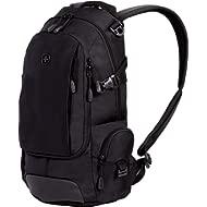 SWISSGEAR Compact Organizer Backpack   Narrow Profile Daypack  Men's and Women's - Black