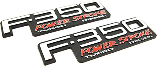 Truck Emblem Warehouse 2 New (Pair) Set Custom 94-98 OBS F350 Powerstroke Turbo Diesel Fender Badges