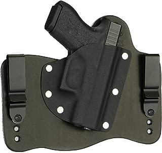 FoxX Holsters Glock 43 Inside The Waistband Hybrid Holster Tuckable, Concealed Carry Gun Holster