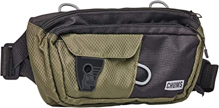 Chums Unisex Trekker Waist Pack, Olive Black, One Size
