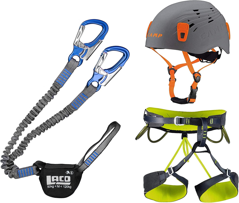 LACD Klettersteigset Pro Blau Blau Blau  Klettergurt Camp Größe L  Helm Titan grau 54-62cm B07QHKTK8S  Wirtschaft bb9084