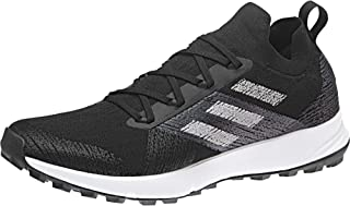 adidas Men's TERREX Two Parley Trail Running Shoes, Core Black/Grey/Crystal White, 7 US