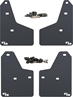 RokBlokz Mud Flaps for 2012+ Ford Focus - Multiple Colors Available - Set of 4 - Fits All MK3 Models - Includes All Hardware and Detailed Instructions (Black with White Logo, Originalz)