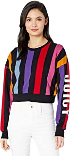 Women's Bold Vertical Stripe Terry Track Pullover