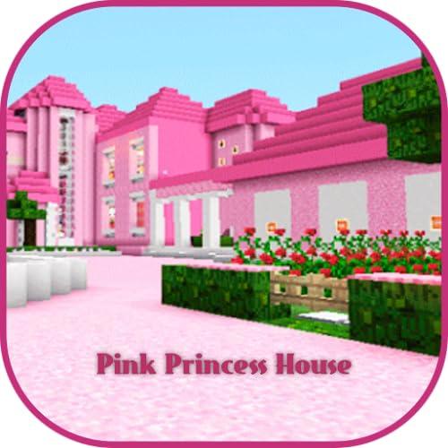 Pink Princess House Map MCPE
