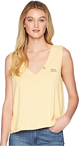 Peace Seeker Deep V Tank Top