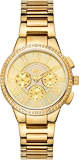 JBW Helena Women's 16 Diamonds Gold Dial Stainless Steel Band Watch - J6328E
