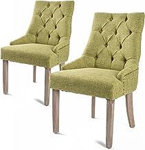 La Bella 2X French Provincial Oak Leg Chair Amour - Green