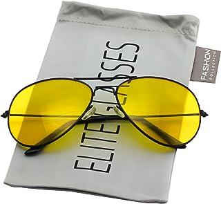 Classic Aviator Night Vision HD Polarized Glasses Yellow Lens for Men Women Driving Shooting Fishing Sunglasses