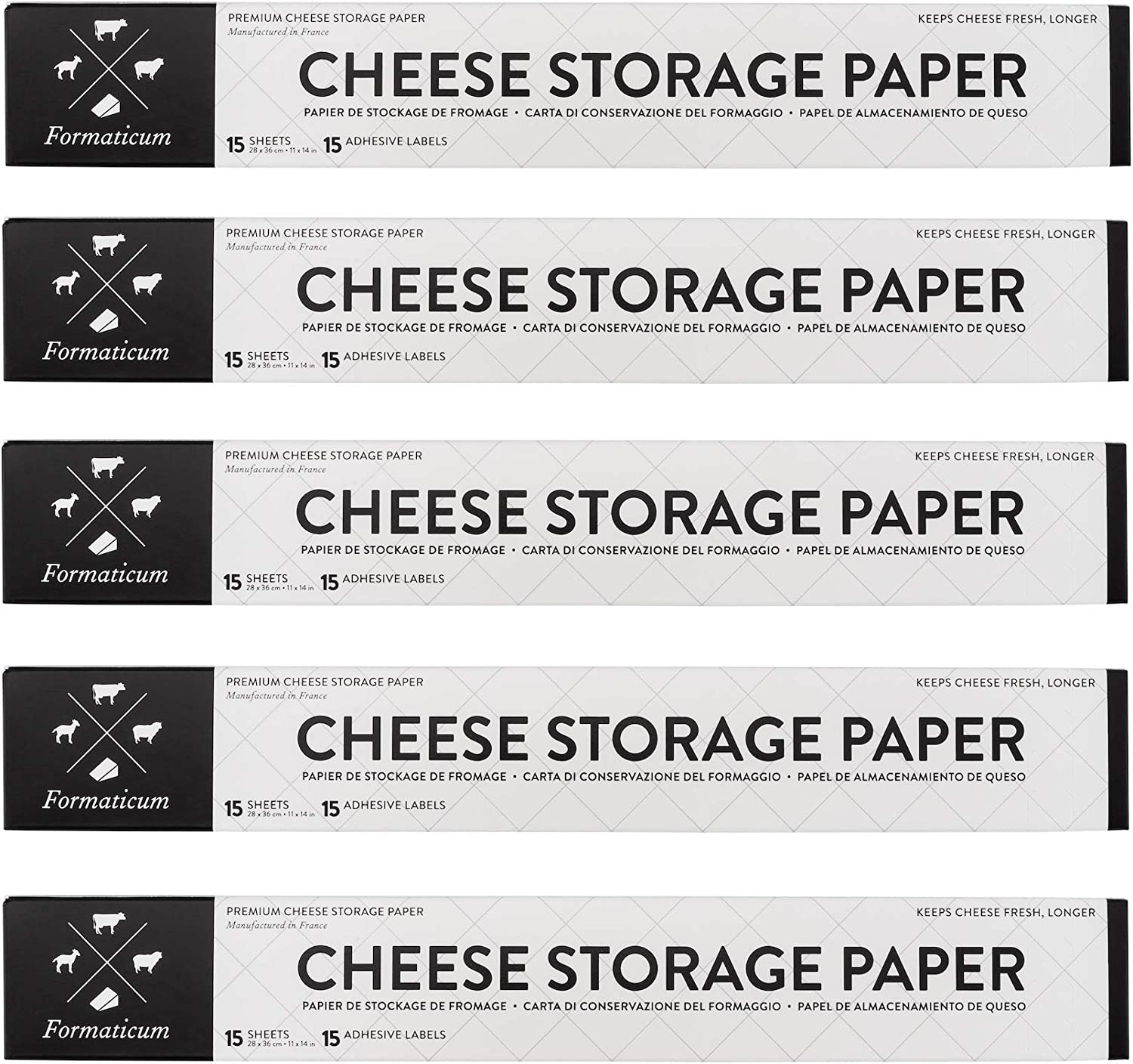 Formaticum Cheese security Storage Bargain Wax-Coated Charcuterie Paper Fre Keep