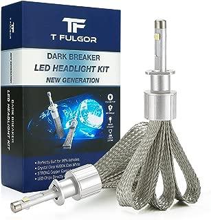 T FULGOR DarkBreaker H11(H8,H9) LED Headlight Bulbs Conversion Kit Purple copper braid, CREE Cool White, 40w, 10,000lm 6000K,2 year warranty,1 pair (H11)