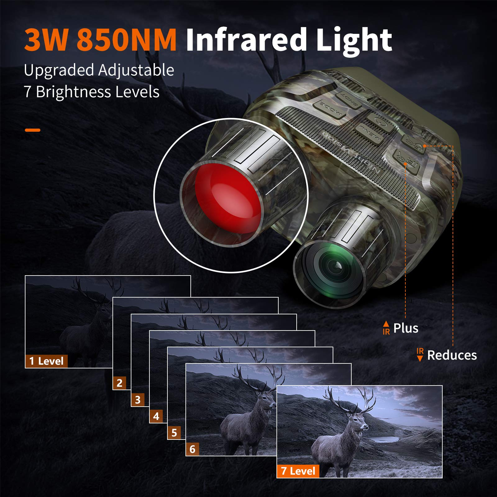 Night Vision Goggles - Digital Night Vision Binoculars - 984 ft Infrared Night Vision Range Lets You Capture Photos & Record Videos Save on 32 GB Card (Included)