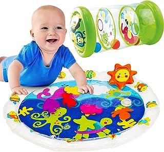 Tippi - Colchón de agua 2 en 1 y juego de rollos de selva - Juguetes sensoriales para bebés de 6 meses en adelante