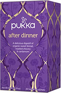 Pukka Herbal Teas After Dinner Organic Fennel Chicory and Cardamom Tea, 20 Count