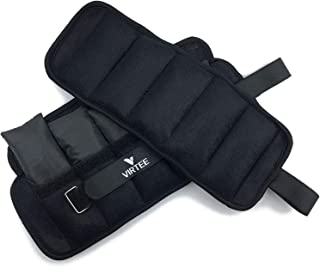 Virtee Adjustable Ankle Weights 1-10 lbs (1 Pair) with Removable Weight for Gymnastic, Jogging, Walking, Fitness, Aerobics, 1-5 lbs Each Pack, 2 Pack