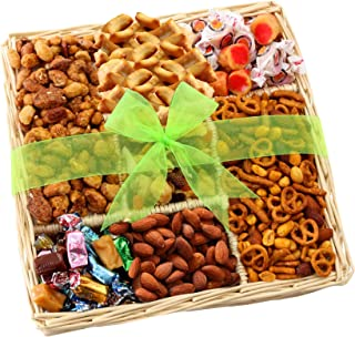 Nuts, Caramels & Sweets Gift Basket - Perfect for Any Occasion