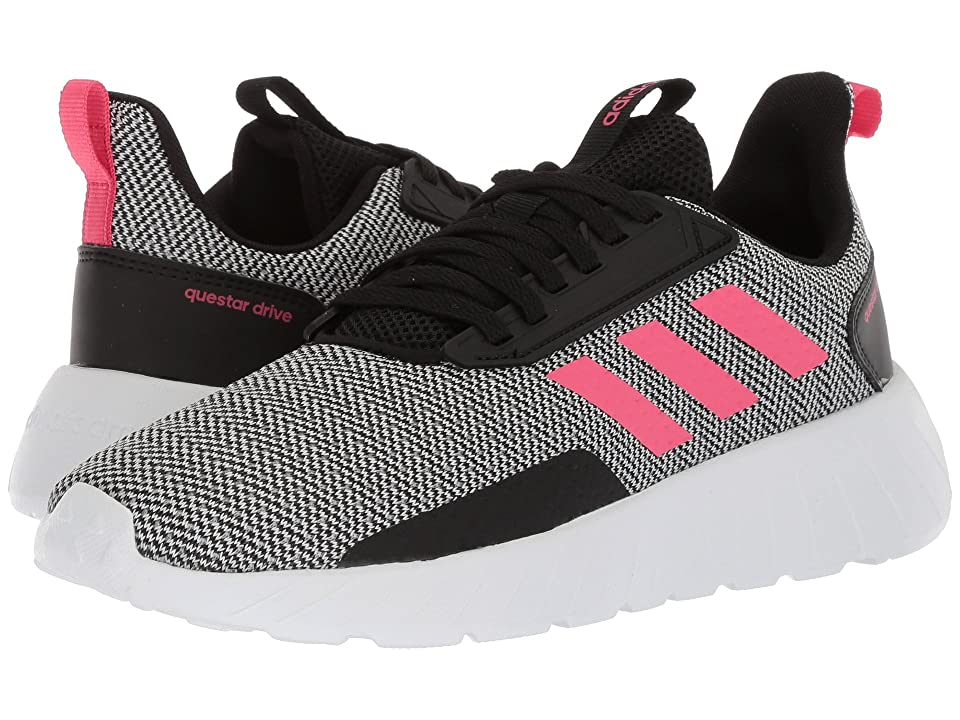adidas Kids Questar Drive (Little Kid/Big Kid) (Black/Real Pink/White) Kids Shoes