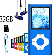 $20 » MP3 Player / MP4 Player, Hotechs MP3 Music Player with 32GB Memory SD Card Slim Classic Digital LCD 1.82'' Screen Mini USB Port with FM Radio, Voice Record